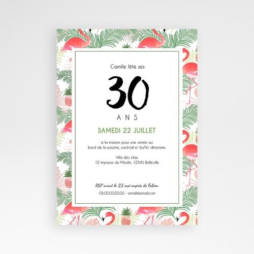 Carte invitation anniversaire adulte Tropical Drink pas cher