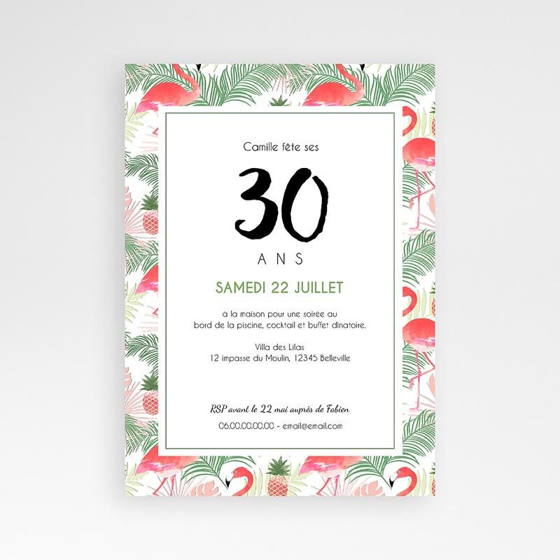 invitation anniversaire adulte tropical drink. Black Bedroom Furniture Sets. Home Design Ideas