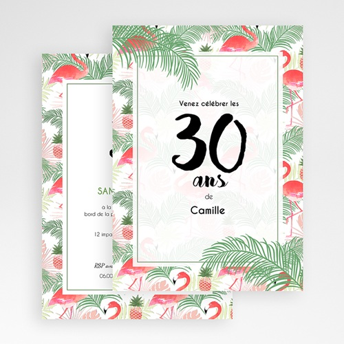 Invitation Anniversaire Adulte - Tropical Drink 54157 preview