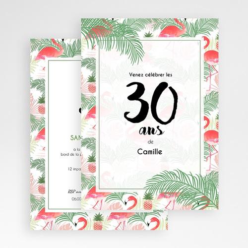 Carte invitation anniversaire adulte Tropical Drink gratuit