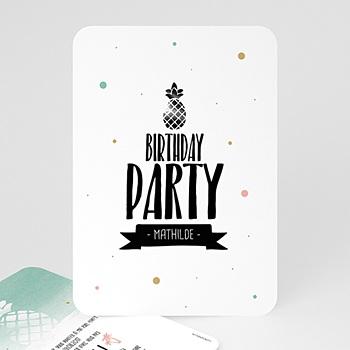 Carte invitation anniversaire adulte Fête d'été