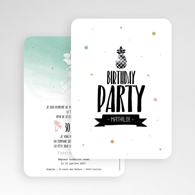 Carte Invitation Anniversaire Adulte Fête d'été gratuit