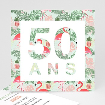 Invitation Anniversaire Adulte - Tropical Party - 0