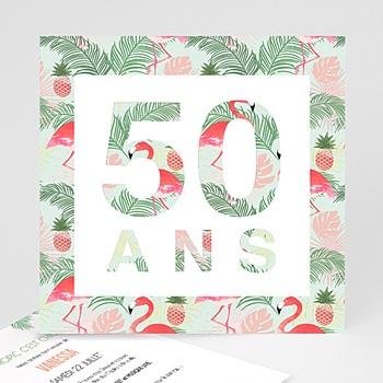 Acheter carte invitation anniversaire adulte tropical