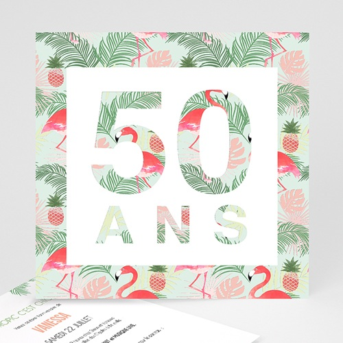 Carte Invitation Anniversaire Adulte Tropical