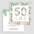 Invitation Anniversaire Adulte - Tropical Party 54175 thumb