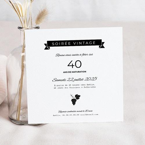 Invitation Anniversaire Adulte - Millésime 54183 thumb