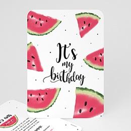 Carte invitation anniversaire adulte Pastèque