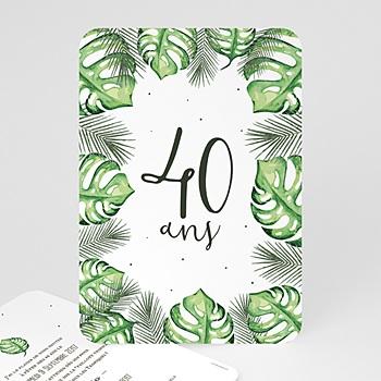 Carte invitation anniversaire adulte Iles paradisiaques