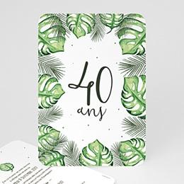 Carte invitation anniversaire adulte - Iles paradisiaques 54215