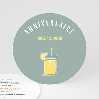 Invitation Anniversaire Adulte - Bar à limonade - 0