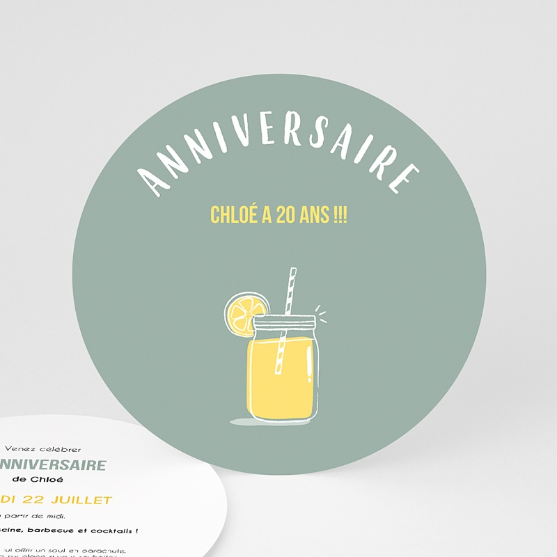 Invitation Anniversaire Adulte - Bar à limonade 54224 thumb