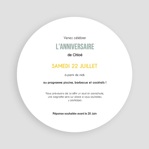 Invitation Anniversaire Adulte - Bar à limonade 54225 thumb