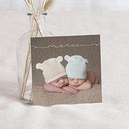 Carte Remerciements Naissance - Bébés jumeaux - 0