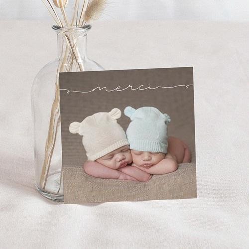 Carte Remerciements Naissance - Bébés jumeaux 54242
