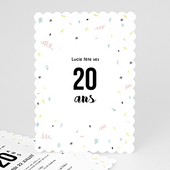 Invitation Anniversaire Adulte - Confettis jolis - 0