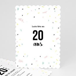 Invitations Anniversaire adulte Confettis jolis