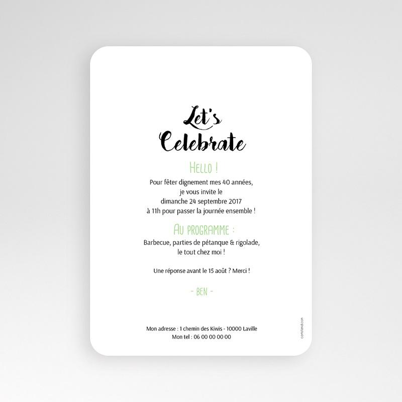 Carte Invitation Anniversaire Adulte Kiwis & Ananas pas cher