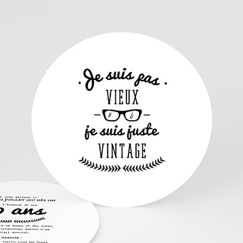 Carte invitation anniversaire adulte Vintage