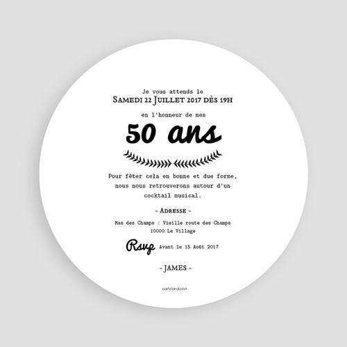Invitation Anniversaire Adulte - Vintage 54288 preview