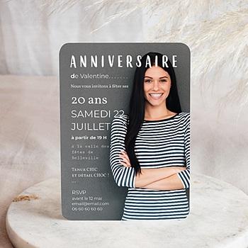 Carte invitation anniversaire adulte Autoportrait