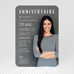 Carte Invitation Anniversaire Adulte - Autoportrait 54305