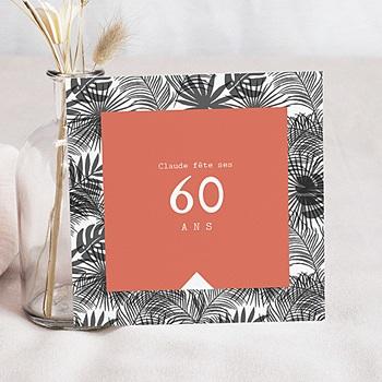 Carte invitation anniversaire adulte climat tropical personnalisable