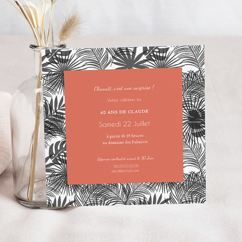 Invitation Anniversaire Adulte - Climat Tropical 54315 thumb