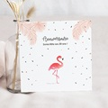 Carte Invitation Anniversaire Adulte Flamant-Rose Fiesta