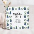 Invitation Anniversaire Adulte - Ananas bleus en fête 54341 thumb