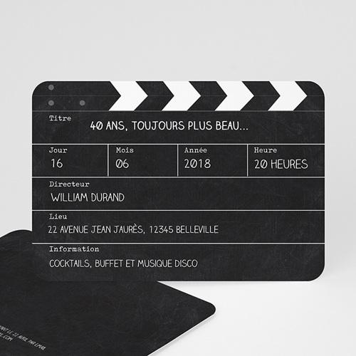 Invitation Anniversaire Adulte - Cinema 54376 thumb