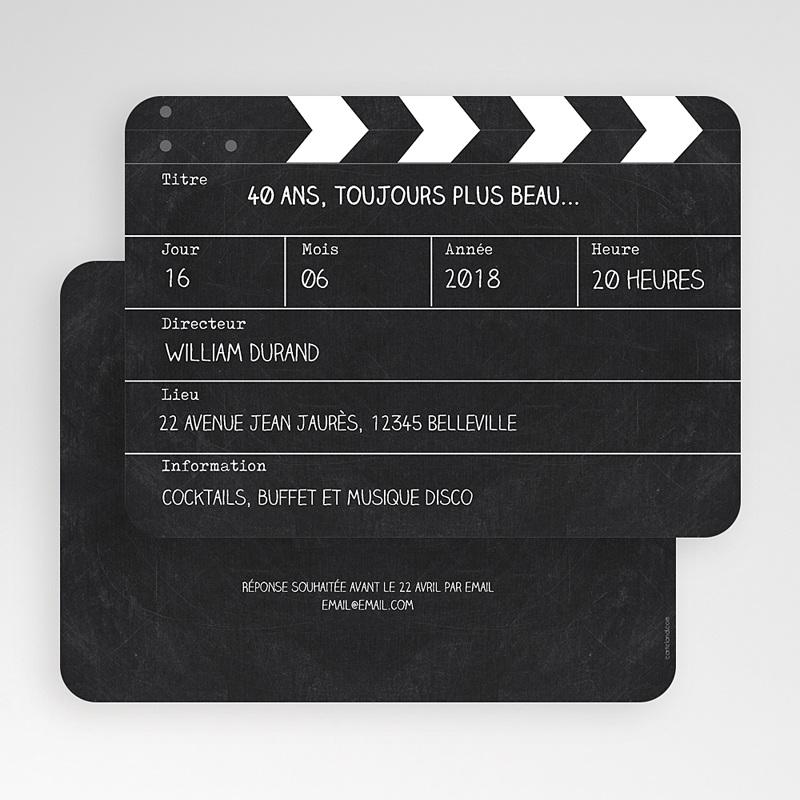 Carte Invitation Anniversaire Adulte Cinema gratuit