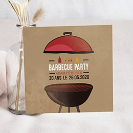 Carte Invitation Anniversaire Adulte - Grillades Party 54385