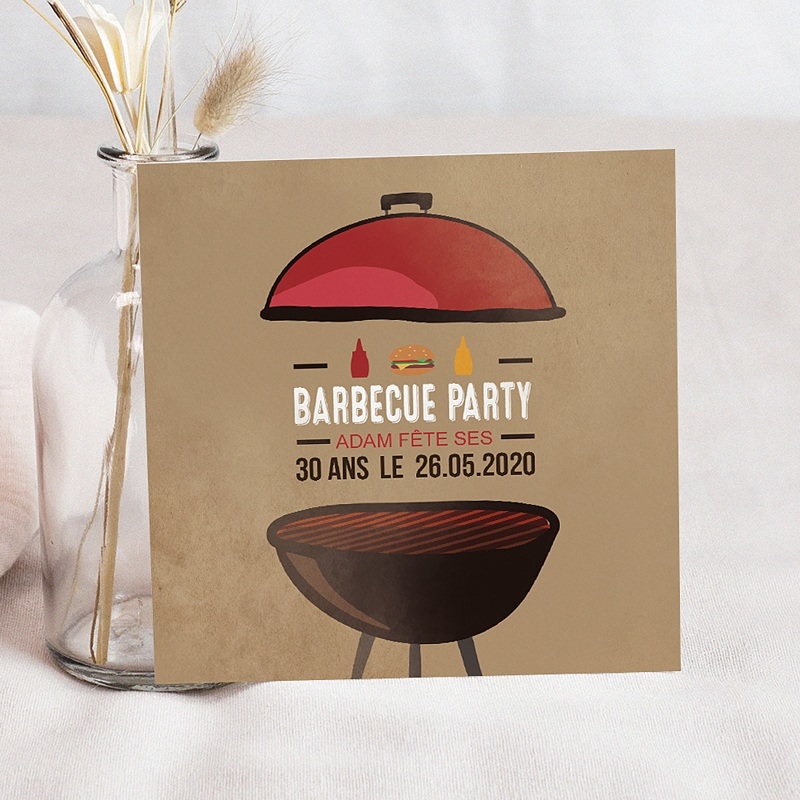 Invitation Anniversaire Adulte - Grillades Party 54385 thumb