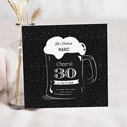 Invitations Anniversaire adulte Pinte de bière