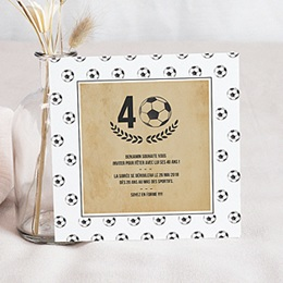 Carte invitation anniversaire adulte - Football party 54403