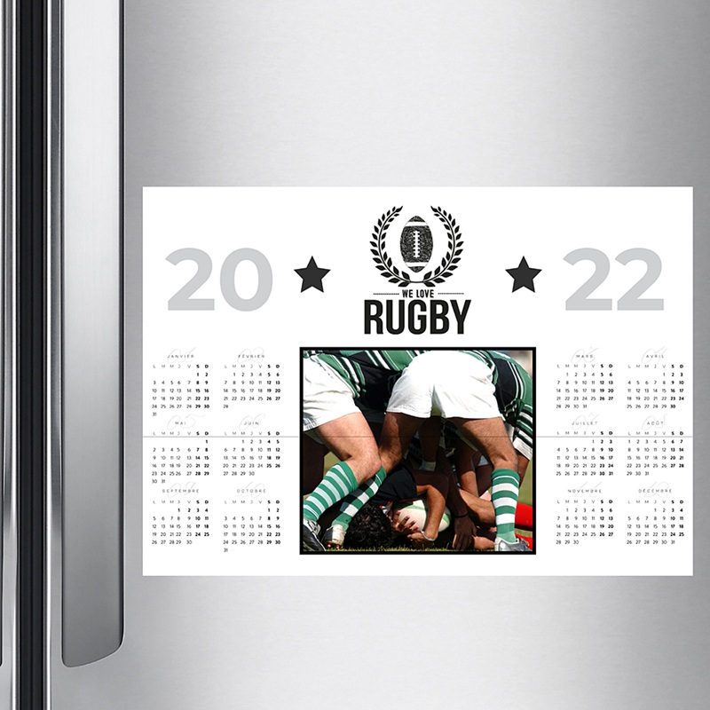 Calendrier photo Rugby club pas cher