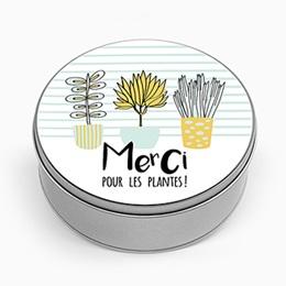 Boîte en métal personnalisée - Jolies Plantes - 0