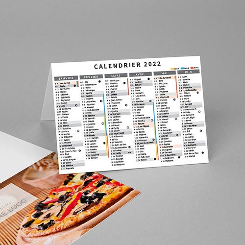 Calendriers de Poche Pizza pas cher