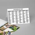 Calendrier de Poche 4 photos, vacances scolaires et jours fériés pas cher