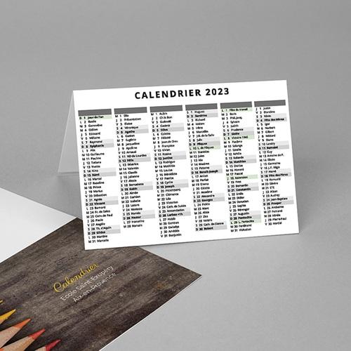 Calendrier de Poche 2020 crayons de couleurs, vacances scolaires et jours fériés pas cher