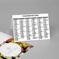 Calendrier de Poche 2020 Fleuriste, vacances scolaires et jours fériés pas cher