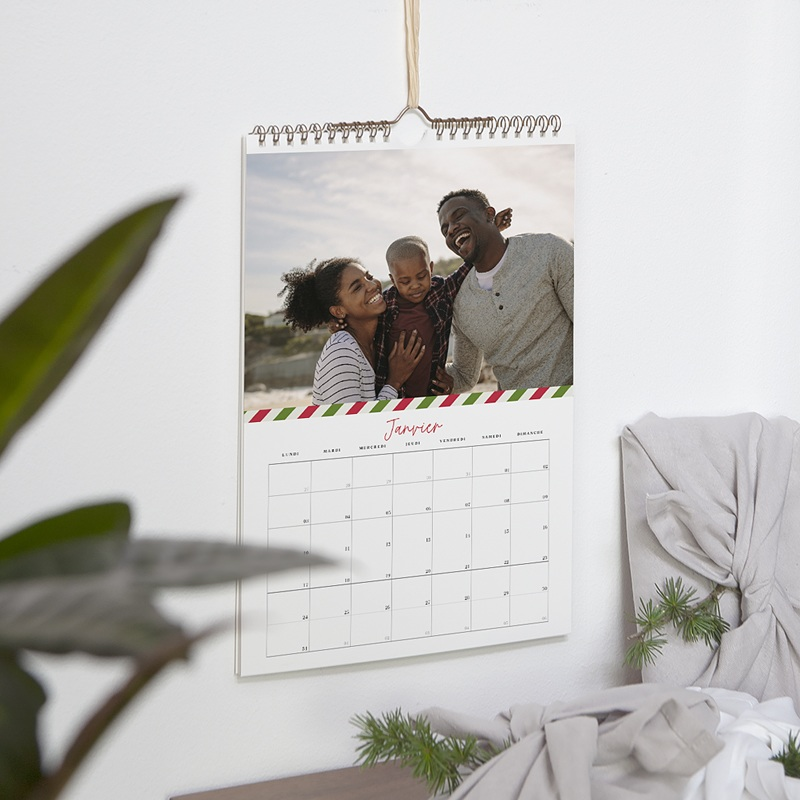 Calendrier Photo 2019 - Rayures de Noel 54617 thumb
