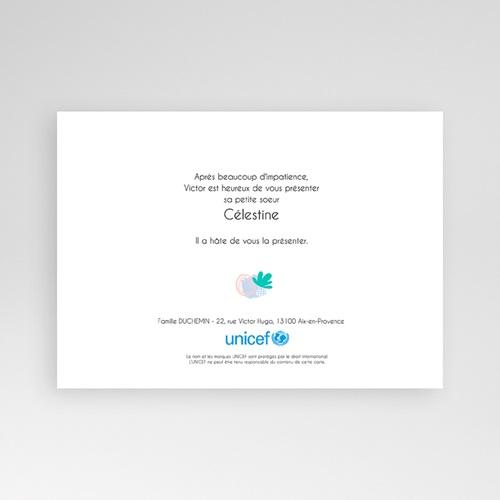 Faire-Part Naissance Fille UNICEF - Deux portraits 54648 thumb