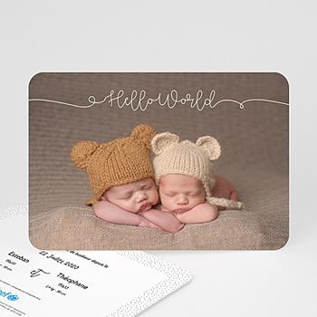 Soutenez l'UNICEF avec un faire-part de naissance pour vos jumeaux !
