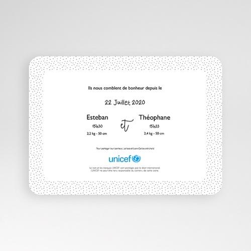 Faire-Part Naissance Jumeaux UNICEF Nous voilà ! pas cher