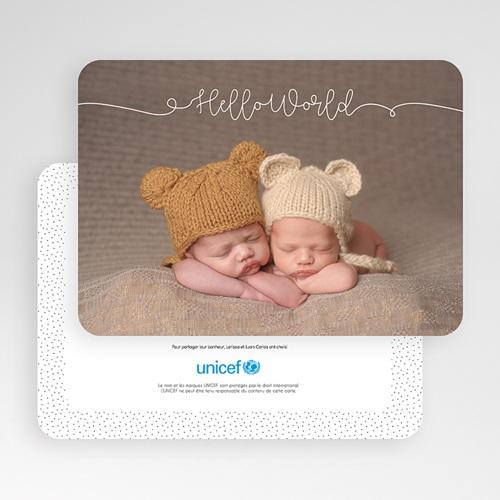 Faire-Part Naissance Jumeaux UNICEF Nous voilà ! gratuit