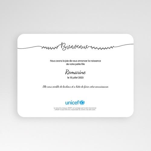 Faire-Part Naissance Fille UNICEF - Jolie poupée 54663 preview