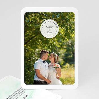 Carte remerciement mariage - Pastille Merci - 0