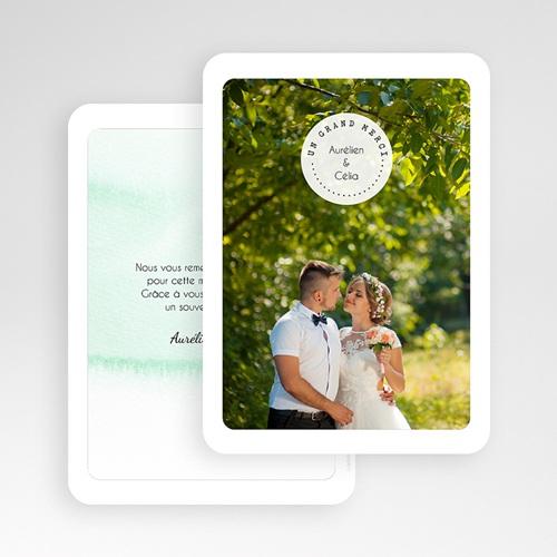 Carte Remerciements Mariage - Pastille Merci 54683 thumb